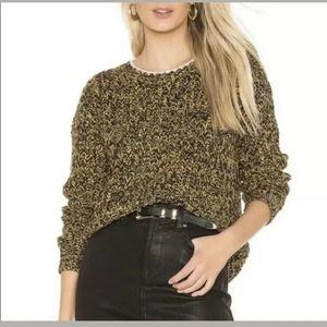 Tularosa Pullover Sweater Chunky Cable Knit j12